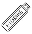 e learning usb icon outline style vector image vector image