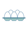 eggs carton isolated icon vector image vector image