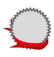 empty ribbon banner vector image vector image