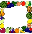 Fruits frame vector image vector image
