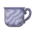 glass mug of coffee with handle colored crayon vector image vector image
