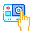 go pro camera icon outline vector image vector image