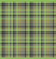 green pixel mosaic plaid seamless pattern vector image vector image