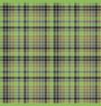 green pixel mosaic plaid seamless pattern vector image vector image