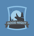 greeting card good night in vector image