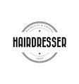 hairdresser barber logo vintage vector image