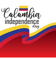 happy colombia independence day vector image vector image