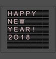 happy new year 2018 conceptual background vector image