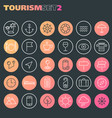 inline tourism icons collection trendy linear vector image vector image