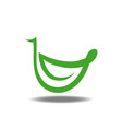 leaf smile logo vector image
