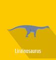 lirainosaurus icon flat style vector image