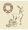 merry christmas sketch design vector image