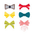 multicolor image different bow collection vector image vector image