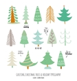 New Year and Christmas holidays elements vector image