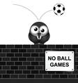 No Ball Games vector image vector image