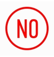 No in circle icon simple style vector image vector image
