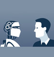 people and robots modern human and artificial vector image vector image
