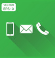 phone icon business concept smartphone phone vector image vector image