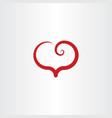 red spiral heart logo symbol element sign vector image