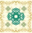 seamless abstract floral patternmandala vector image vector image