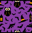seamless pattern halloween background vector image vector image