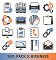 Seo Business pack vector image