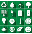 set of ecology icons in flat style on different vector image vector image