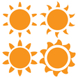 set of orange sun vector image vector image