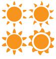 set orange sun vector image vector image