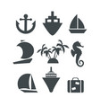 silhouette icons set vector image