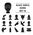 skin care set icons in black style big collection vector image vector image