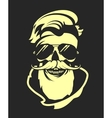 skull with beard in sunglasses vector image