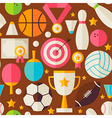 Sport Recreation Competition Flat Design Brown vector image vector image
