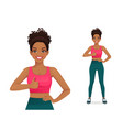 sport woman showing thumb up vector image