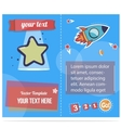 Stars and rockets booklet for children print or vector image