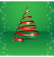 Stylized Ribbon Christmas Tree vector image vector image