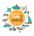 Time to adventure vector image