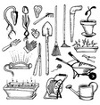 tools for handling caring and growing a garden vector image