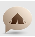 Tourist tent sign Brown gradient icon on bubble vector image vector image