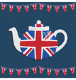 union jack teapot vector image vector image