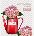 valentine day flowers bouquet retro vector image vector image