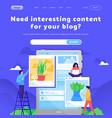 web site design template social media vector image vector image