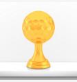 winner golf cup award golden trophy logo isolated