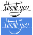 handwritten inscription set of thank you card vector image