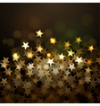 Golden Christmas background with stars Eps10 vector image