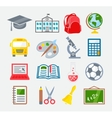 School and Education Colorful Icons vector image