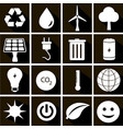 set of ecology icons in flat style on different vector image