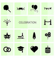 14 celebration icons vector image vector image