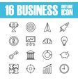 264business outline icon vector image vector image