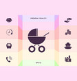 baby carriage icon graphic elements for your vector image